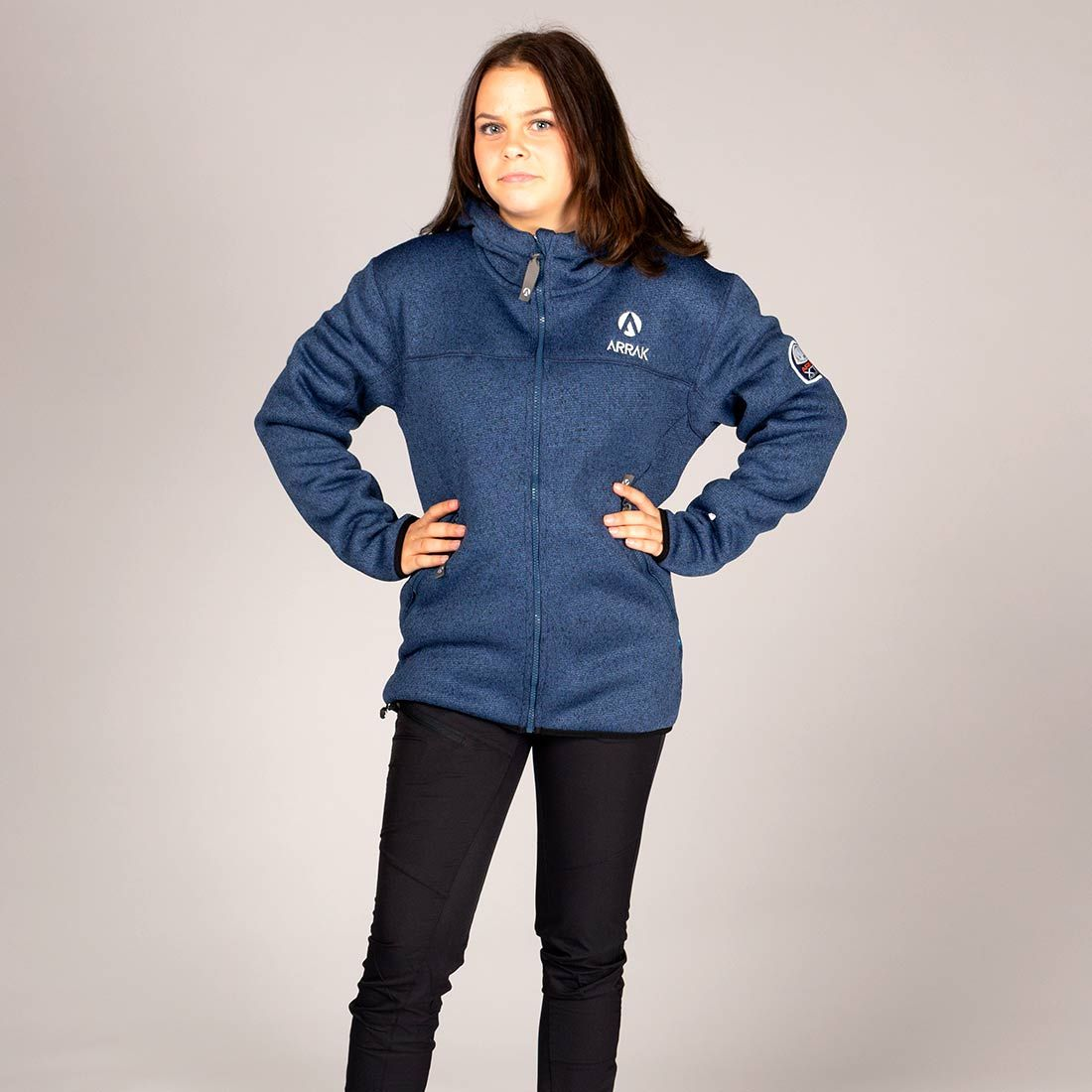 238b3088292 NYHED: Pilefleece Hood Women Navy - Arrak Outdoor - Hirtshals Hundepension v /Jan Sørensen