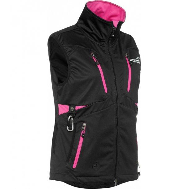 Arrak Acadia Softshell Vest - Sort/Rosa