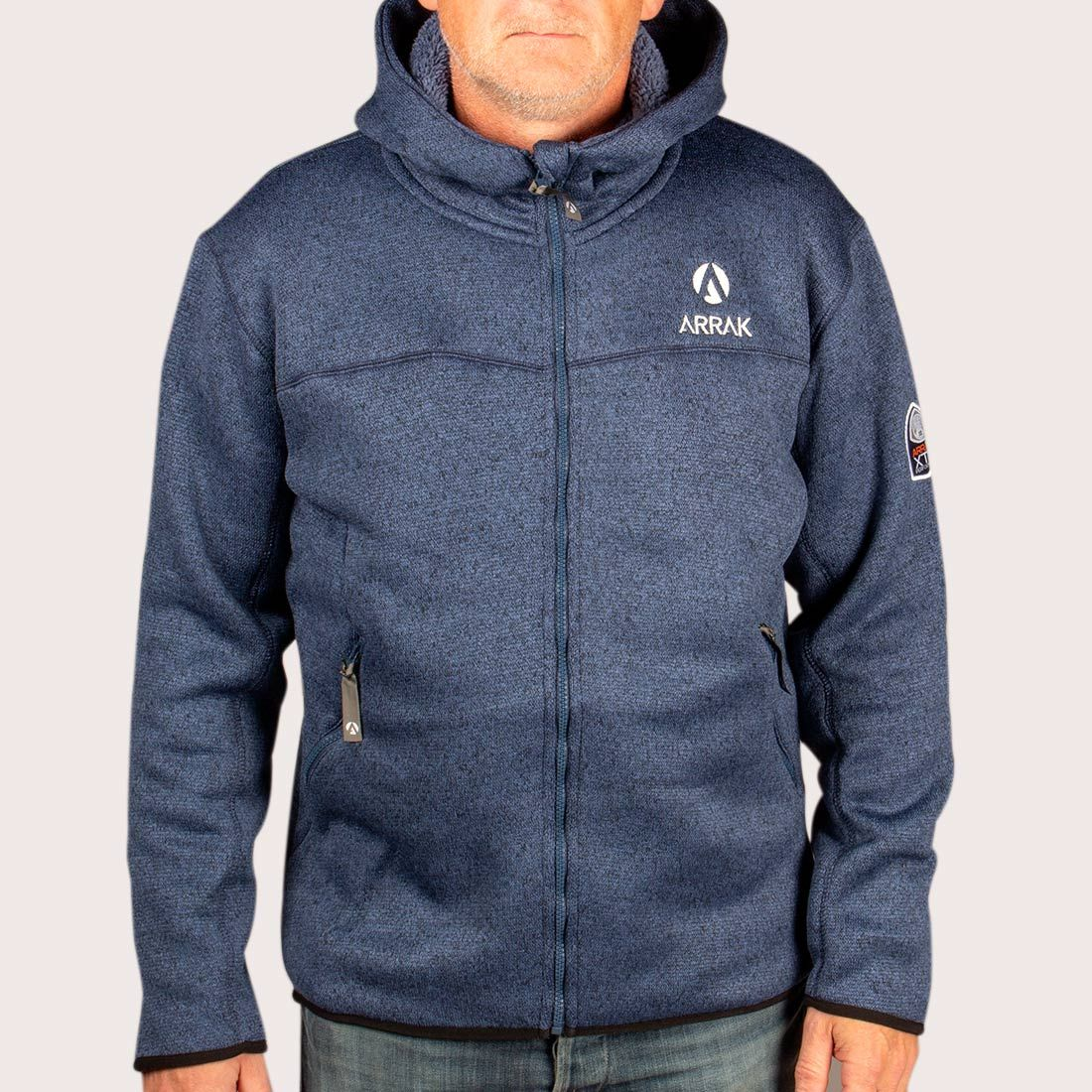 4d70473849f NYHED: Pilefleece Hood Men Navy - Arrak Outdoor - Hirtshals Hundepension v/Jan  Sørensen